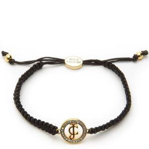 Juicy Couture Pave Macrame Friendship Bracelet